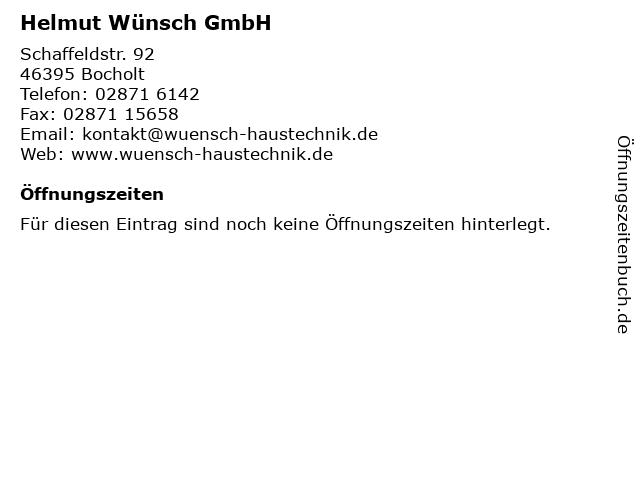 Helmut Wünsch GmbH in Bocholt: Adresse und Öffnungszeiten