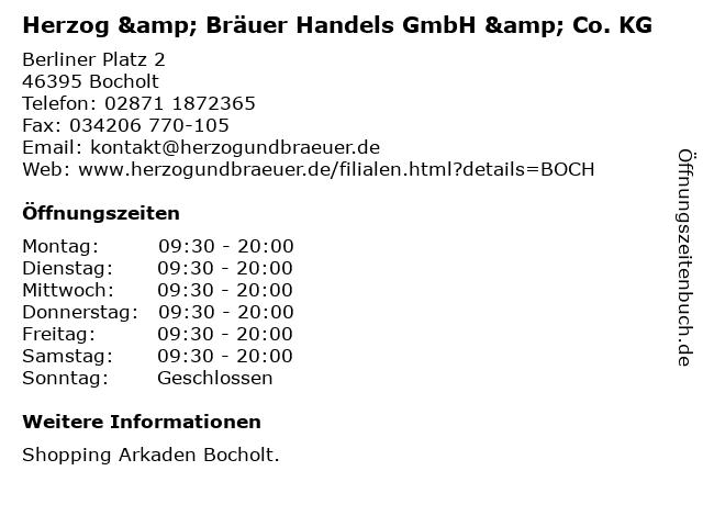 Herzog & Bräuer Handels GmbH & Co. KG in Bocholt: Adresse und Öffnungszeiten