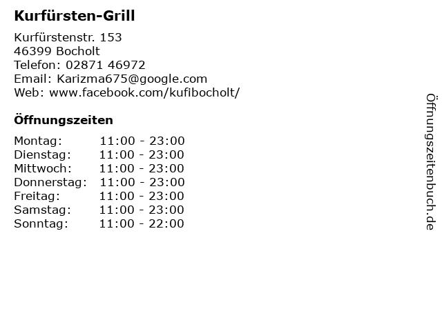 Kurfürsten-Grill in Bocholt: Adresse und Öffnungszeiten
