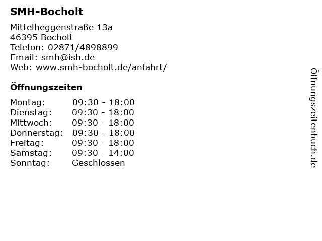 SMH-Bocholt in Bocholt: Adresse und Öffnungszeiten