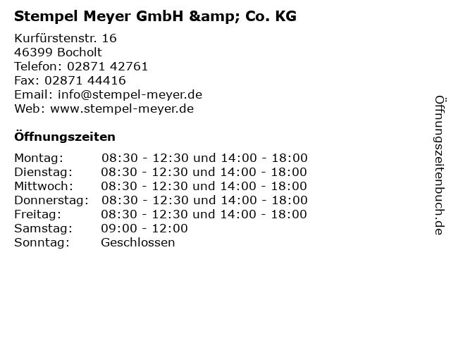 Stempel Meyer GmbH & Co. KG in Bocholt: Adresse und Öffnungszeiten