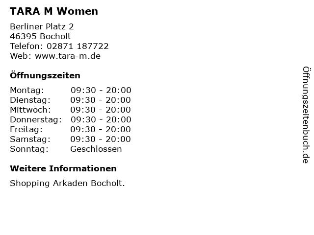 TARA M Women in Bocholt: Adresse und Öffnungszeiten