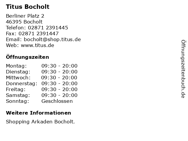 Titus Bocholt in Bocholt: Adresse und Öffnungszeiten