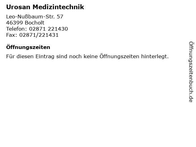 Urosan Medizintechnik in Bocholt: Adresse und Öffnungszeiten
