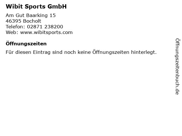 Wibit Sports GmbH in Bocholt: Adresse und Öffnungszeiten