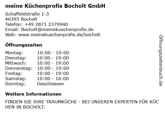 meine Küchenprofis Bocholt GmbH in Bocholt: Adresse und Öffnungszeiten