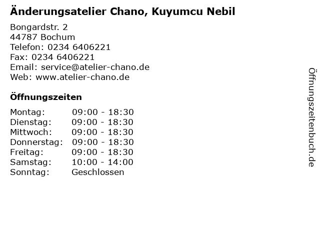 Änderungsatelier Chano, Kuyumcu Nebil in Bochum: Adresse und Öffnungszeiten