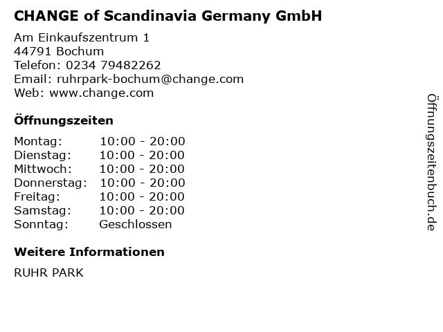 CHANGE of Scandinavia Germany GmbH in Bochum: Adresse und Öffnungszeiten