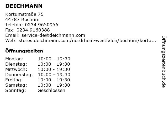 DEICHMANN in Bochum: Adresse und Öffnungszeiten