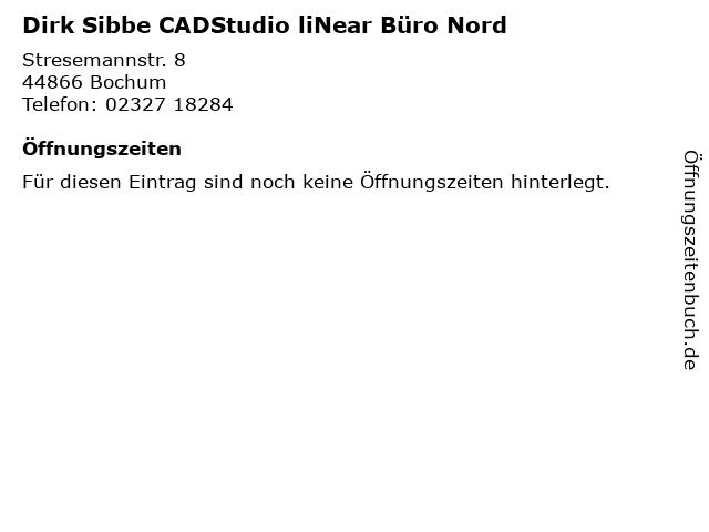 Dirk Sibbe CADStudio liNear Büro Nord in Bochum: Adresse und Öffnungszeiten