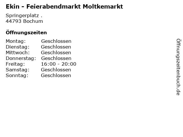 Ekin - Feierabendmarkt Moltkemarkt in Bochum: Adresse und Öffnungszeiten