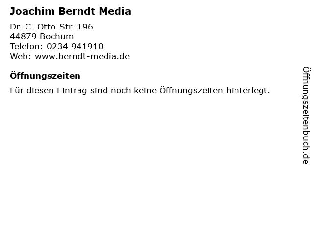 Joachim Berndt Media in Bochum: Adresse und Öffnungszeiten