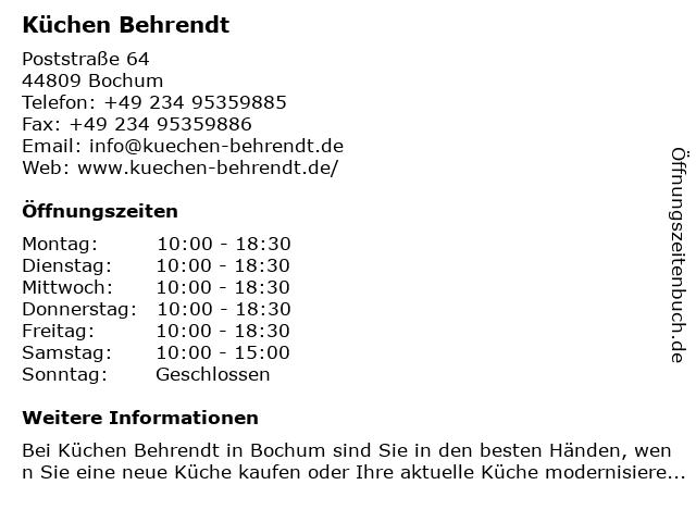 ᐅ Offnungszeiten Kuchen Behrendt Poststrasse 64 In Bochum