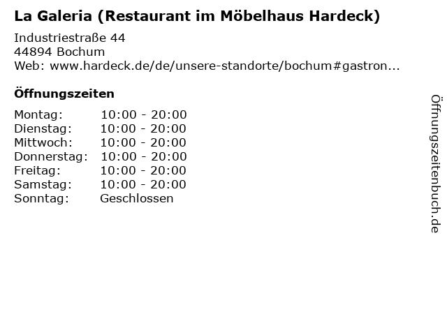 ᐅ öffnungszeiten La Galeria Restaurant Im Möbelhaus Hardeck