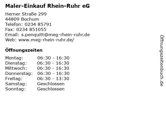 Maler-Einkauf Rhein-Ruhr eG in Bochum: Adresse und Öffnungszeiten