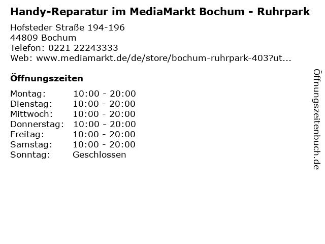 Media Markt Bochum-Hofstede in Bochum: Adresse und Öffnungszeiten