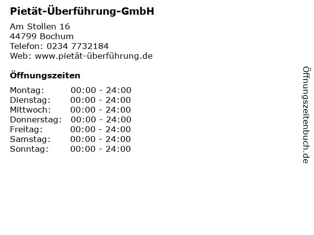 Pietät-Überführung-GmbH in Bochum: Adresse und Öffnungszeiten
