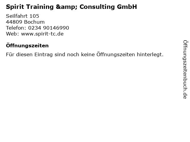 Spirit Training & Consulting GmbH in Bochum: Adresse und Öffnungszeiten