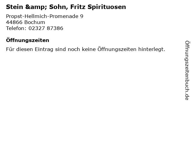 Stein & Sohn, Fritz Spirituosen in Bochum: Adresse und Öffnungszeiten