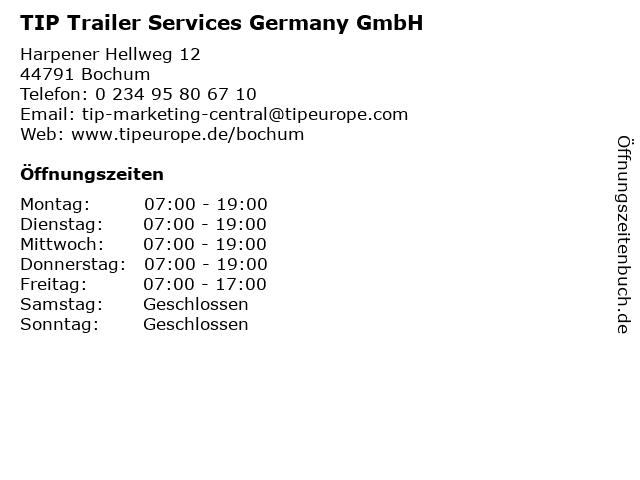 TIP Trailer Services Germany GmbH in Bochum: Adresse und Öffnungszeiten