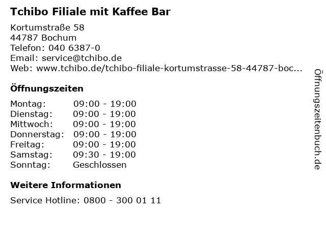 Tchibo Filiale mit Kaffee Bar in Bochum: Adresse und Öffnungszeiten