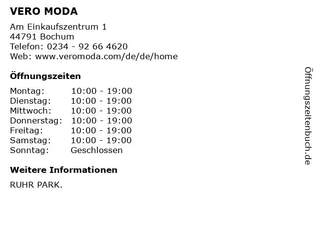 VERO MODA in Bochum: Adresse und Öffnungszeiten