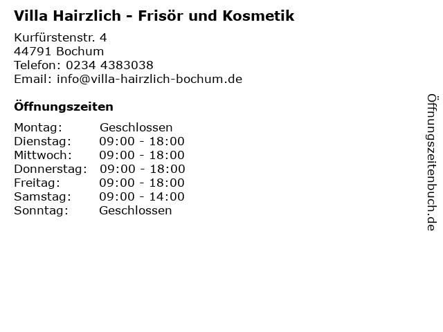 Villa Hairzlich in Bochum: Adresse und Öffnungszeiten