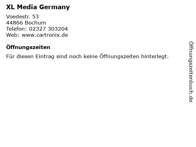 XL Media Germany in Bochum: Adresse und Öffnungszeiten