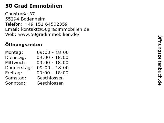50 Grad Immobilien in Bodenheim: Adresse und Öffnungszeiten