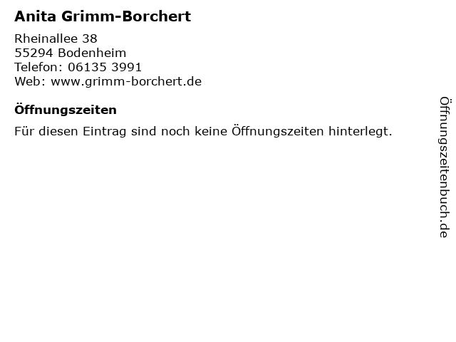 Anita Grimm-Borchert in Bodenheim: Adresse und Öffnungszeiten