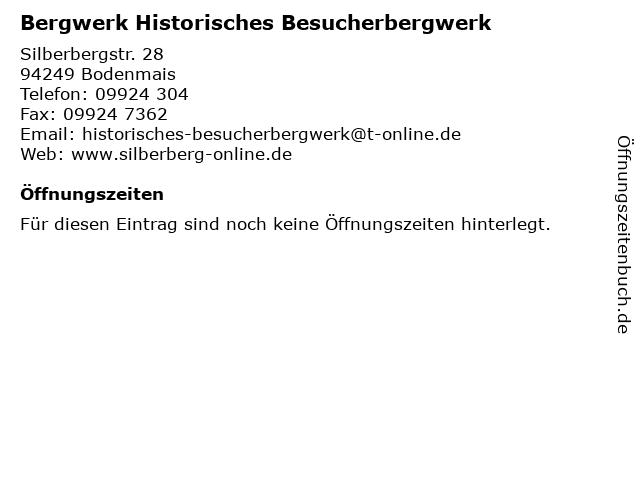 ᐅ Offnungszeiten Bergwerk Historisches Besucherbergwerk