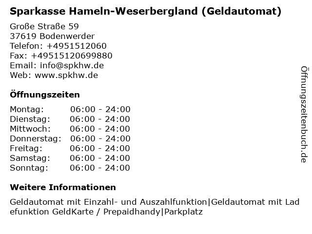 ᐅ öffnungszeiten Sparkasse Hameln Weserbergland Beratungszentrum