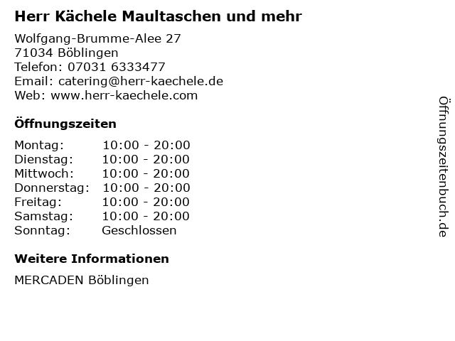 Herr Kächele Maultaschen und mehr in Böblingen: Adresse und Öffnungszeiten