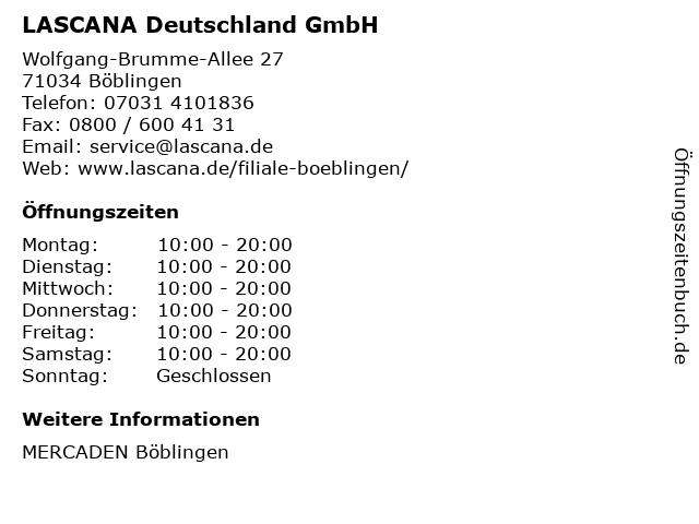 LASCANA Deutschland GmbH in Böblingen: Adresse und Öffnungszeiten