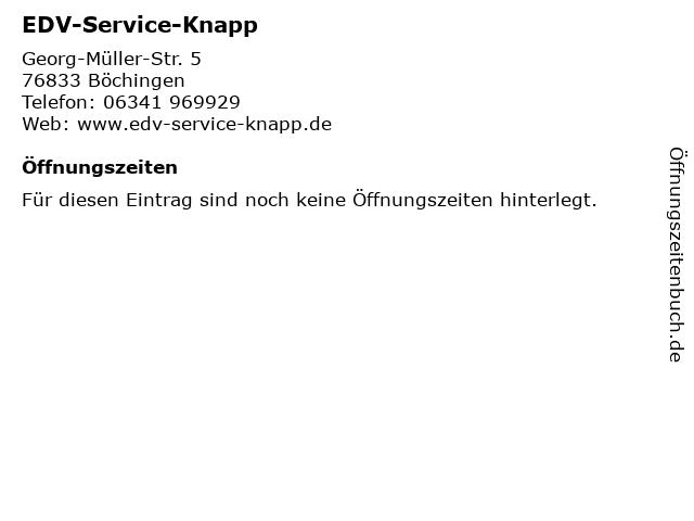 EDV-Service-Knapp in Böchingen: Adresse und Öffnungszeiten