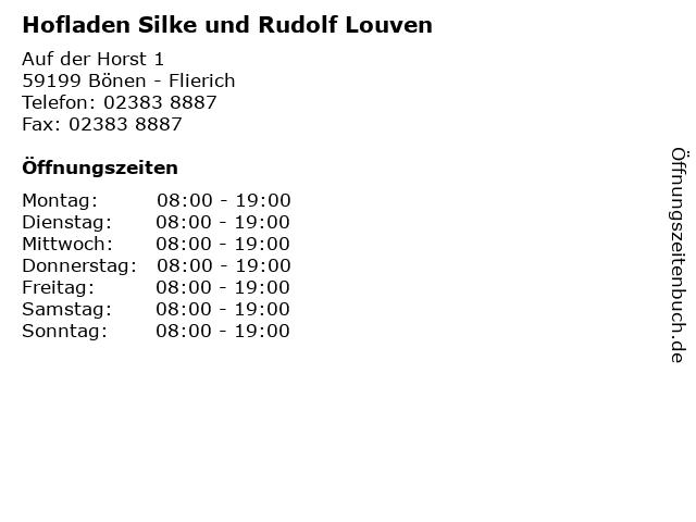 Hofladen Silke und Rudolf Louven in Bönen - Flierich: Adresse und Öffnungszeiten