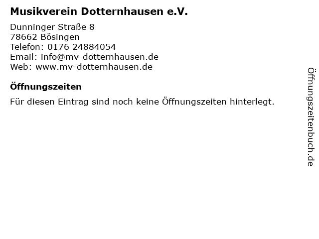 Musikverein Dotternhausen e.V. in Bösingen: Adresse und Öffnungszeiten