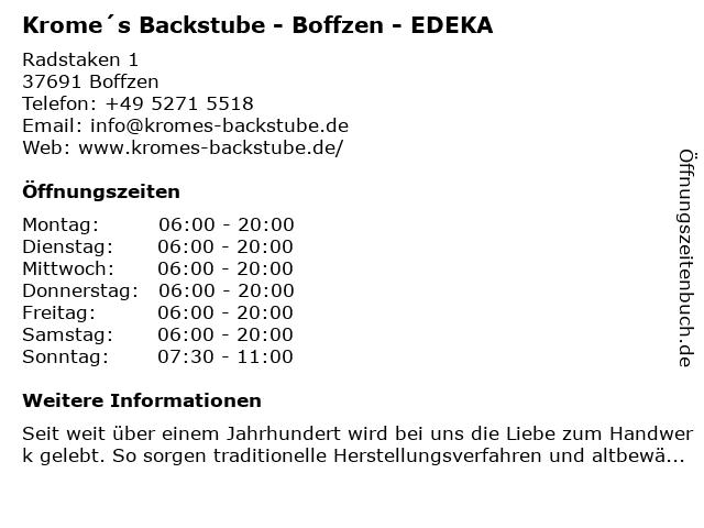 Bäckerei Westbomke GmbH & Co KG in Boffzen: Adresse und Öffnungszeiten