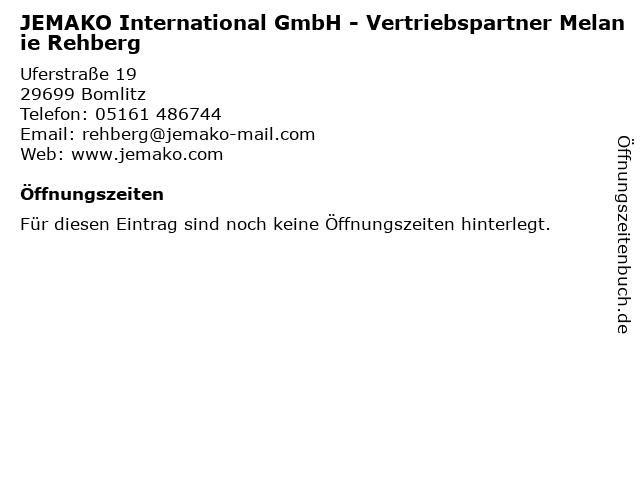 JEMAKO International GmbH - Vertriebspartner Melanie Rehberg in Bomlitz: Adresse und Öffnungszeiten