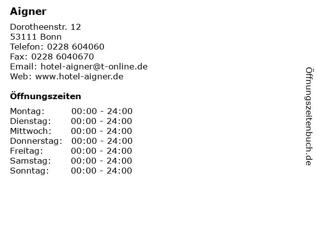 Aigner in Bonn: Adresse und Öffnungszeiten