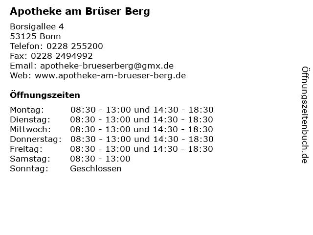 Apotheke am Brüser Berg in Bonn: Adresse und Öffnungszeiten