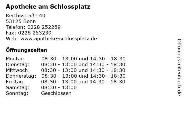 Apotheke am Schlossplatz in Bonn: Adresse und Öffnungszeiten