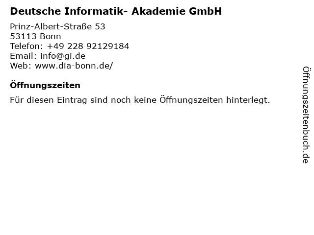 Deutsche Informatik- Akademie GmbH in Bonn: Adresse und Öffnungszeiten