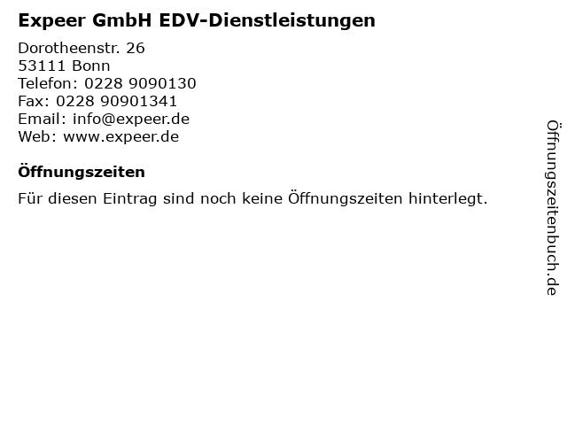 Expeer GmbH EDV-Dienstleistungen in Bonn: Adresse und Öffnungszeiten
