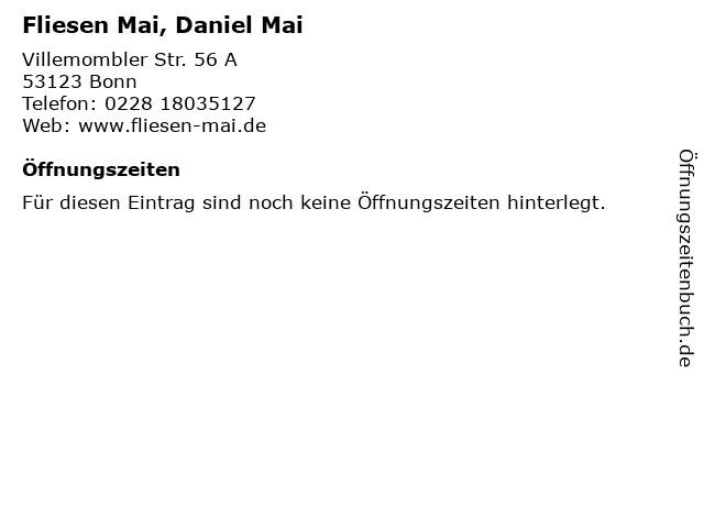 Fliesen Mai, Daniel Mai in Bonn: Adresse und Öffnungszeiten