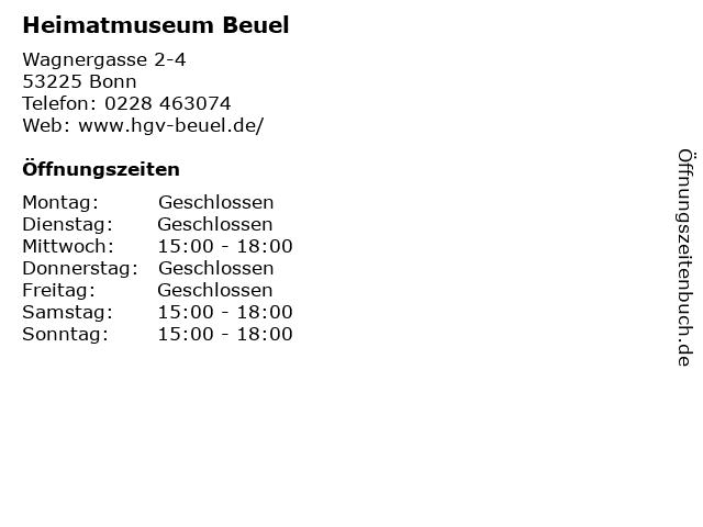 Heimatmuseum Beuel in Bonn: Adresse und Öffnungszeiten