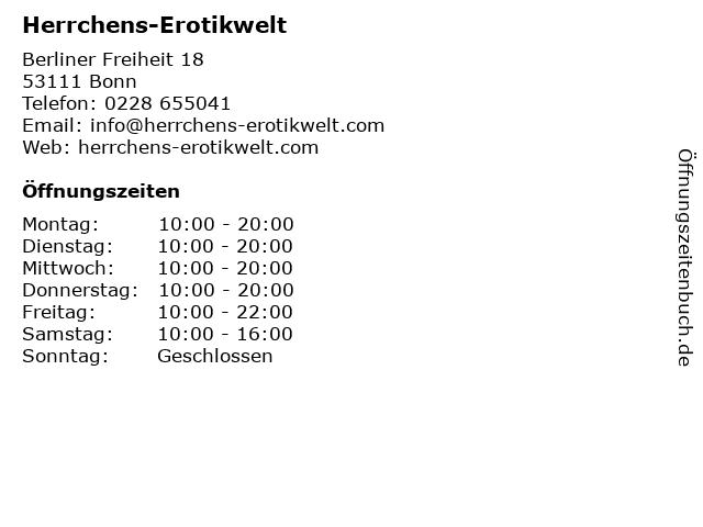 Herrchens-Erotikwelt, Herbert P. Herrchen in Bonn: Adresse und Öffnungszeiten