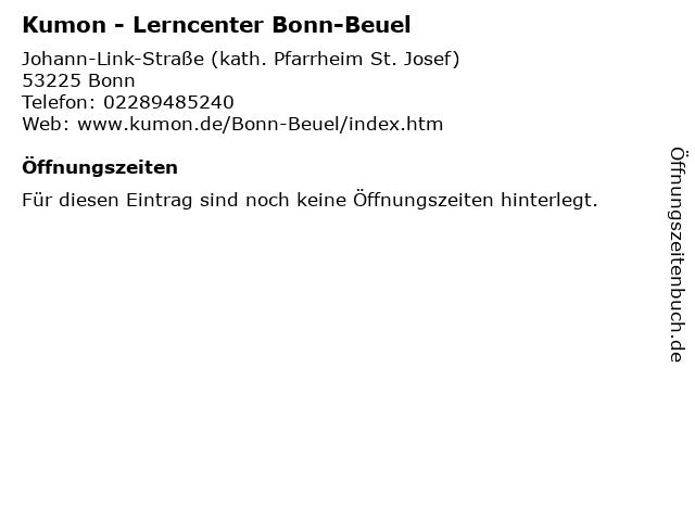 Kumon - Lerncenter Bonn-Beuel in Bonn: Adresse und Öffnungszeiten