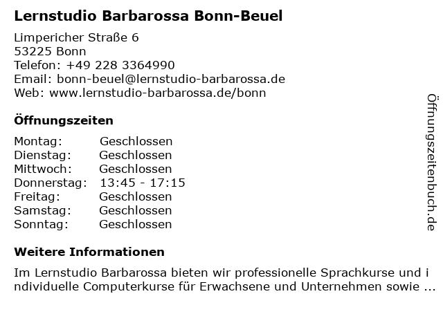 Lernstudio Barbarossa Bonn-Beuel in Bonn: Adresse und Öffnungszeiten