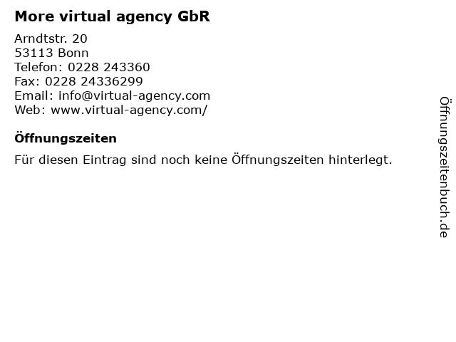 More virtual agency GbR in Bonn: Adresse und Öffnungszeiten
